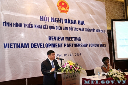 Mr. Nguyen Chi Dung, Deputy Minister of MPI speaking at the Meeting opening. Photo: Duc Trung (MPI Portal)