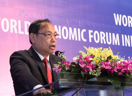 <center>Thứ trưởng Bộ Kế hoạch và Đầu tư Nguyễn Văn Hiếu phát biểu tại Hội thảo.</center>