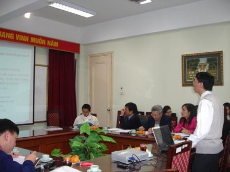 CN. Đặng Huyền Linh trình bày tóm tắt Đề án