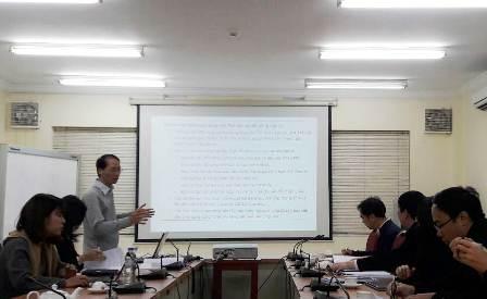 Ths. Đặng Huyền Linh đại diện Ban Chủ nhiệm Đề án trình bày tóm tắt báo cáo.