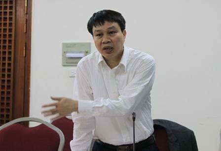 TS. Trần Hồng Quang, Phó Viện trưởng Viện Chiến lược phát triển, chủ nhiệm Đề án phát biểu tại buổi nghiệm thu.