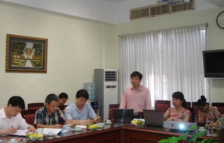 ThS. Nguyễn Hoàng Hà, Chủ nhiệm đề tài, giới thiệu đề tài trước Hội đồng đánh giá cấp Bộ.