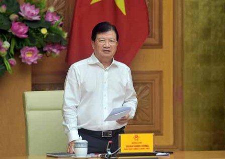 Phó Thủ tướng Trịnh Đình Dũng phát biểu tại phiên họp - Ảnh: VGP/Nhật Bắc