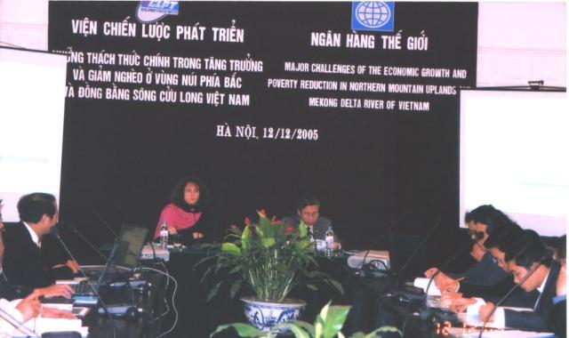 Hội nghị những thách thức chính trong tăng trưởng và giảm nghèo ở vùng núi phía Bắc và Đồng bằng Sông Cửu Long Việt Nam năm 2005