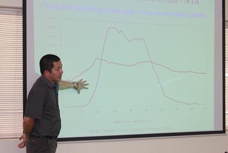 PGS.TS. Giang Thanh Long, Viện trưởng, Viện Chính sách công và Quản lý, Trường Đại học Kinh tế quốc dân, đại diện nhóm chuyên gia tư vấn đã trình bày tóm tắt dự thảo báo cáo nghiên cứu.