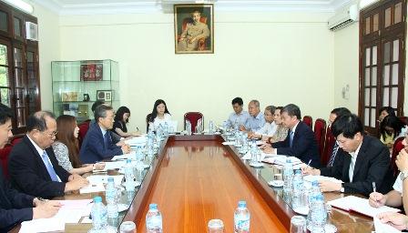 Toàn cảnh buổi làm việc với Thứ trưởng Nguyễn Thế Phương tại Trụ sở Bộ KHĐT.  Ảnh: Thanh Sơn (MPI Portal)