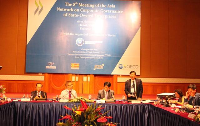 """<center>Hội nghị lần thứ 8 """"Mạng lưới Châu Á về Quản trị doanh nghiệp đối với các doanh nghiệp nhà nước"""" (11.2015)</center>"""