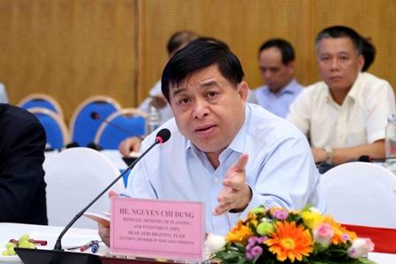 <center>Bộ trưởng Nguyễn Chí Dũng phát biểu tại Tọa đàm. Ảnh: MPI</center>