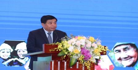 Bộ trưởng Nguyễn Chí Dũng phát biểu tại Diễn đàn. Ảnh: MPI